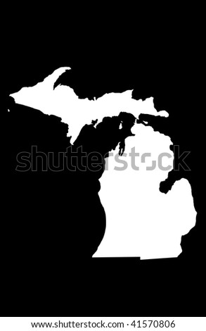 State of Michigan - black background