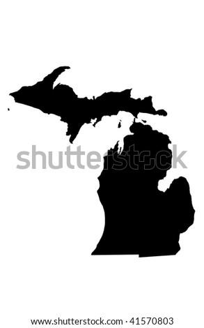 State of Michigan - white background