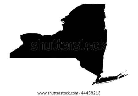 State of New York - white background