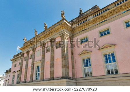 State Opera building in Berlin, Germany. Back side