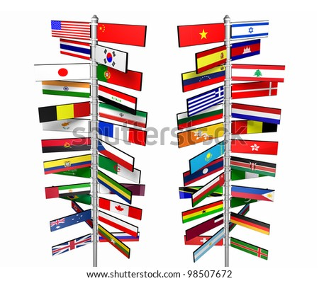 States of the World and Their Flags