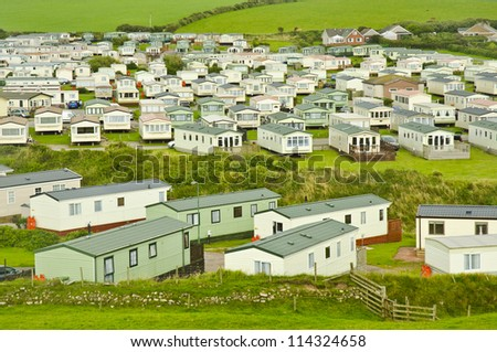 Static caravan site in Cumbria, England