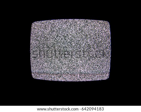 static noise on the old tv...