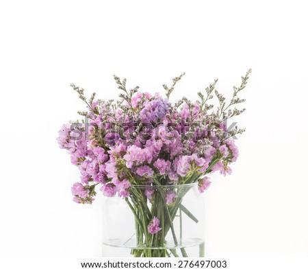 Statice flower bouquet on white background ez canvas mightylinksfo