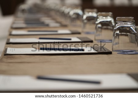 stationary for meeting and business in meeting room