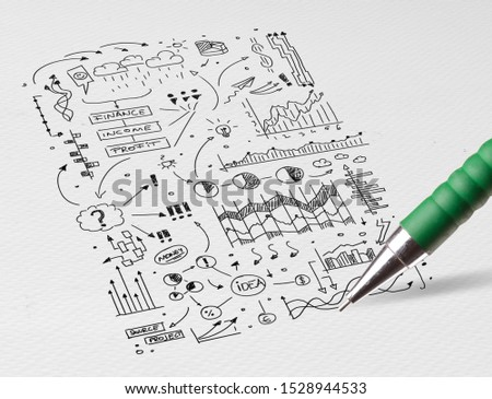 Stationery drawing office symbols and icons concept #1528944533