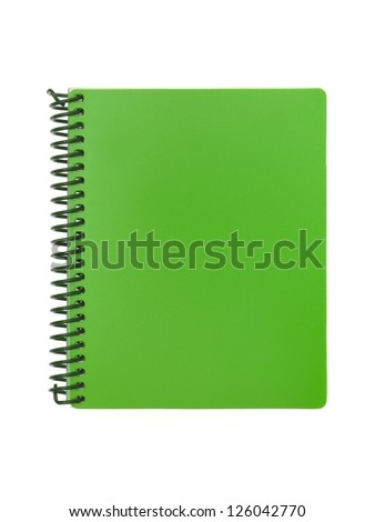 Stationery items isolated against a white background