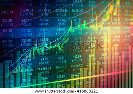 statistic index graph of stock...