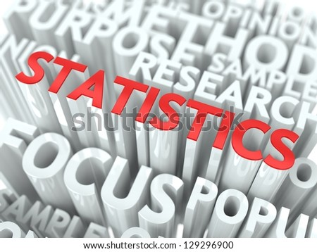 Statistics Background Design. The Word Cloud Concept.
