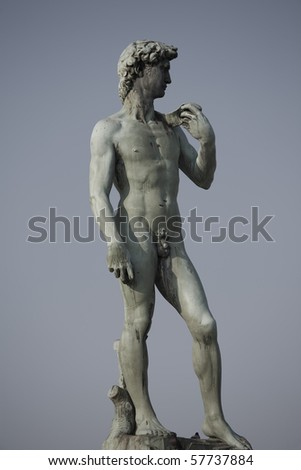 Statue at Piazzale Michelangelo in Florence
