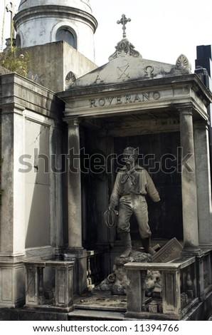 Statue at recoleta cemetery,Argentina