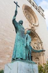 Statue at the Cathedral in Palma de Mallorca