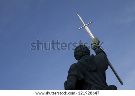 Statue D. Nuno Alvares Pereira, Portel, Alentejo, Portugal