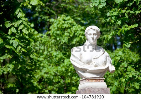 statue in antique Roman style outdoor