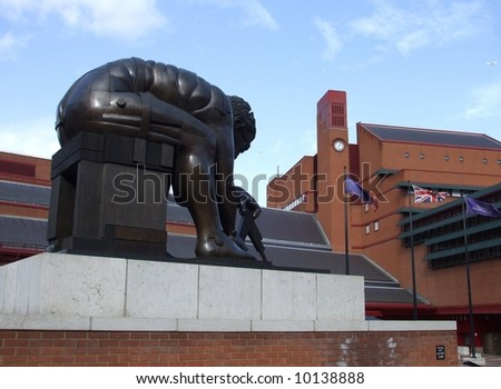 Statue in British Library