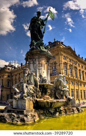 Statue in front of the Wurzburg palace, Germany