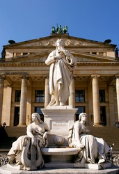 statue in Gendarmenmarkt square, Berlin