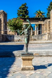 Statue in Pompeii city  destroyed  in 79BC by the eruption of Mount Vesuvius