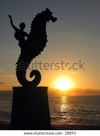 Statue in Puerto Vallarta, Mexico - stock photo
