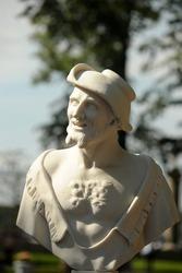 Statue in Summer Garden, St.Petersburg, Russia.