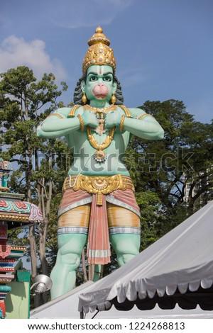 statue in temple #1224268813