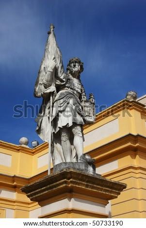 Statue in the Melk Abbey in Melk (by the Danube), Wachau region, Austria
