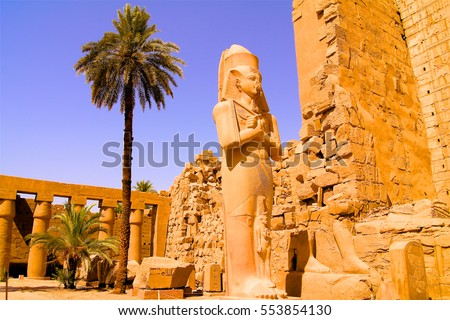 Statue in the temple of Karnak in Luxor Egypt Stock photo ©