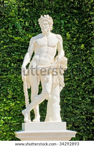 Statue in the Tuileries garden in Paris, France