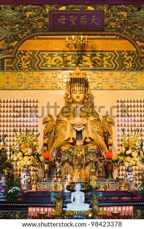 Statue in Thean Hou Temple at Kuala Lumpur (Malaysia)