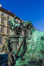 Statue in Vienna Austria - cityscape architecture background
