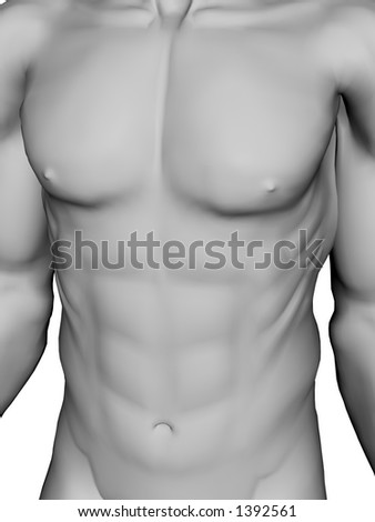 statue looking male torso