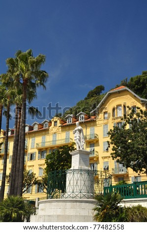 Statue near Nice harbor french Riviera