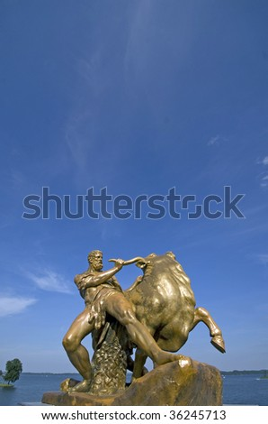 statue near the castle in Schwerin, Germany
