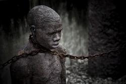Statue of a child slave in Zanzibar.
