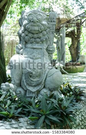 Statue of a Malaysian deity in a Malaysian village.
