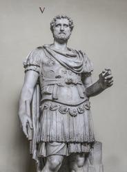 Statue of a nobel roman man, Rome, Italy, 2016