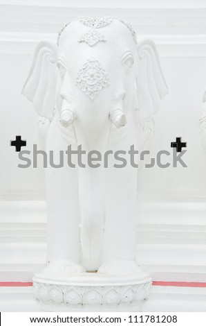 Statue of a white elephant.