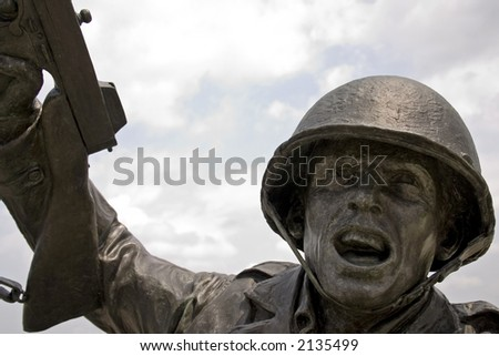 Statue of a World War II soldier.