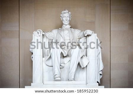 Statue of Abraham Lincoln, Lincoln Memorial, Washington DC Stock photo ©