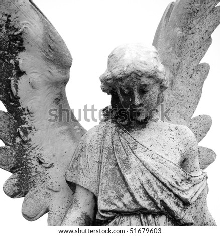 Statue of an angel at a Melbourne Cemetery