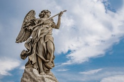 Statue of an angel from the Angel Bridge in the Vatican