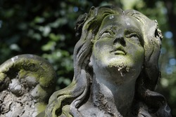 Statue of an angel on old cemetery.
