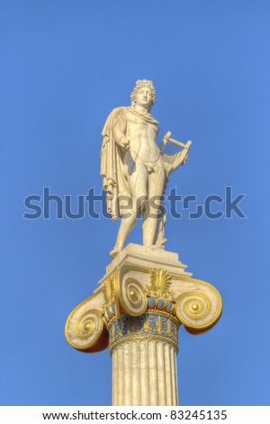 statue of Apollo , academy of athens, greece