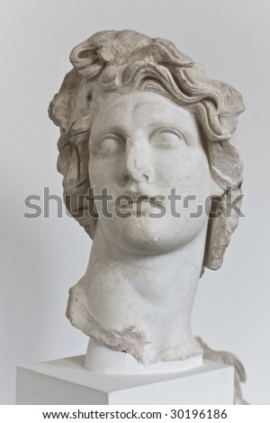 statue of Apollo Greek God of Sun