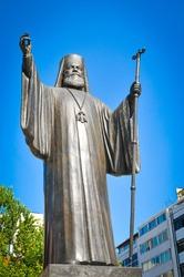 Statue of Archbishop Damaskinos in Athens, Greece