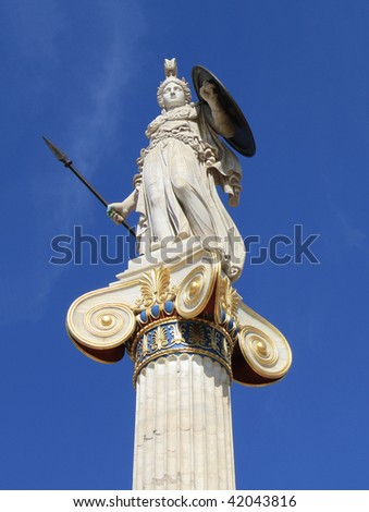 Statue of Athena in Athens, Greece