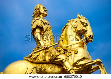 Statue of August the Strong in Dresden/Germany