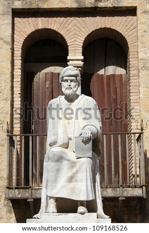Statue of Averroes in Cordoba - Spain