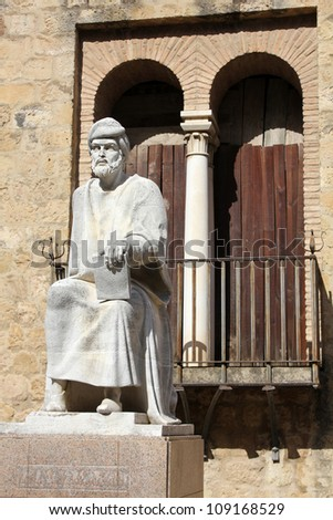 Statue of Averroes in Cordoba - Spain