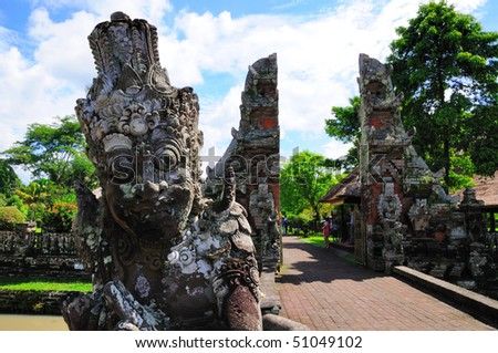 Statue of Balinese Temple